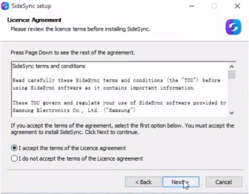 تحميل برنامج sidesync لويندوز xp