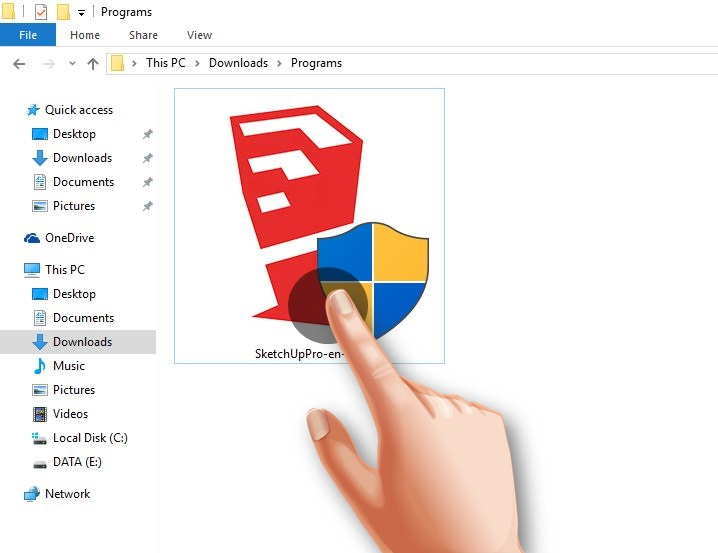 برنامج اسكتش اب SketchUp للكمبيوتر