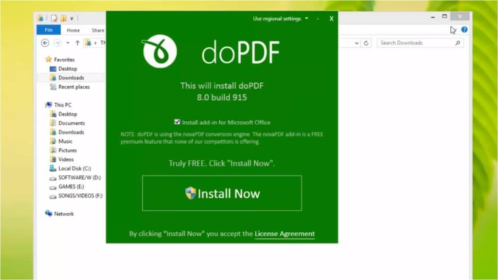 تحميل برنامج dopdf لتحويل الملف النصى الى pdf مجانا للكمبيوتر